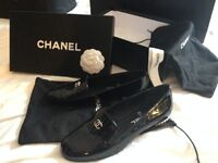 Chanel Loafers/moccasins excellent condition with box