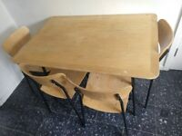 Table and 4 chairs £20