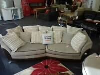 Brown/cream suite (4 seater + armchair)