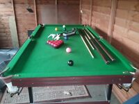 Pot black 6ft snooker table