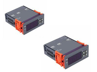 2X Digital Temperatur Controller Thermostat Temperaturregler Regler 90~250V R4E8