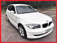 (White & Nice)-- BMW 1 Series -- 116d Diesel Sport -- half LEATHER -- HPi Clear --alternate4 bmw 118