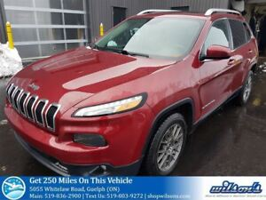 2014 Jeep Cherokee NORTH NAVIGATION! SUNROOF! HEATED STEERING+SE