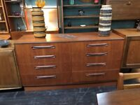 Fresco 8 Drawer Twin Chest of Drawers by G Plan. Retro Vintage Mid Century