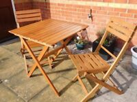 Wooden garden furniture set (two seater)