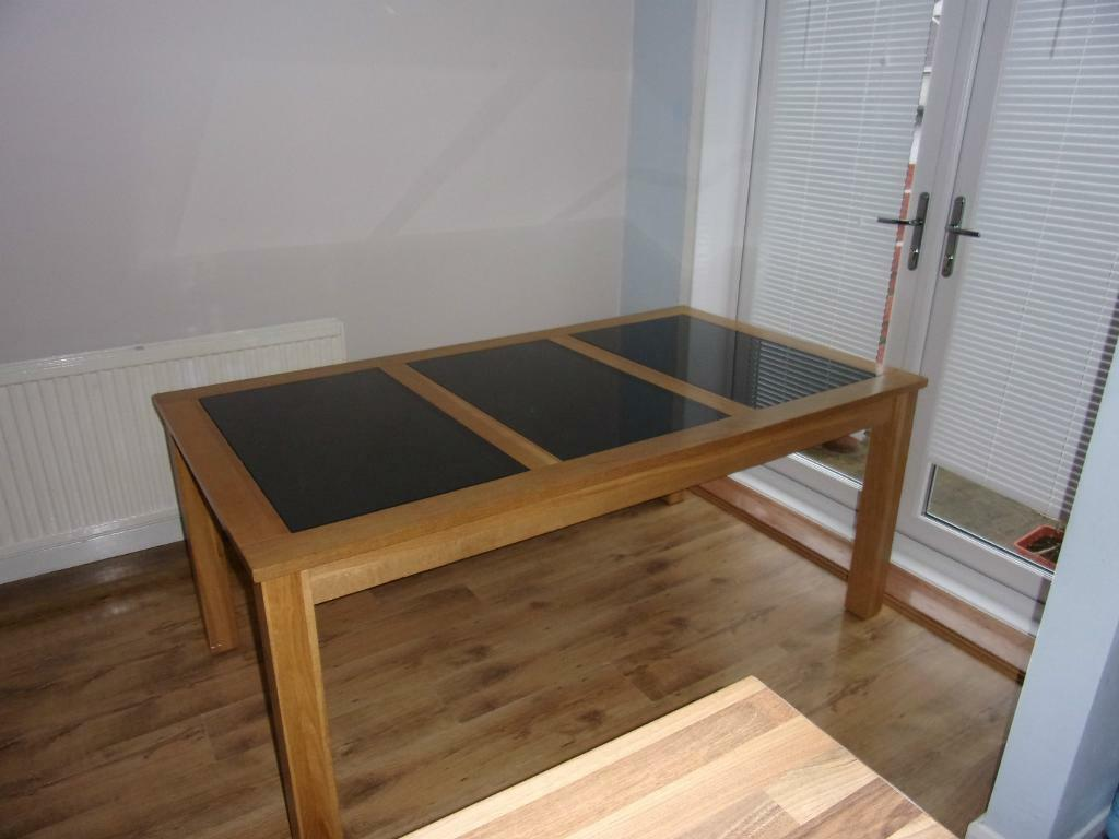 solid oak and granite dining table as new now bargain 149 united