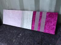 Pink crushed velvet canvas with diamanté detail