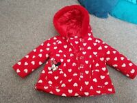 Girls disney minnie mouse coat