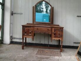 Solid oak Ladies dressing table/Writing Desk
