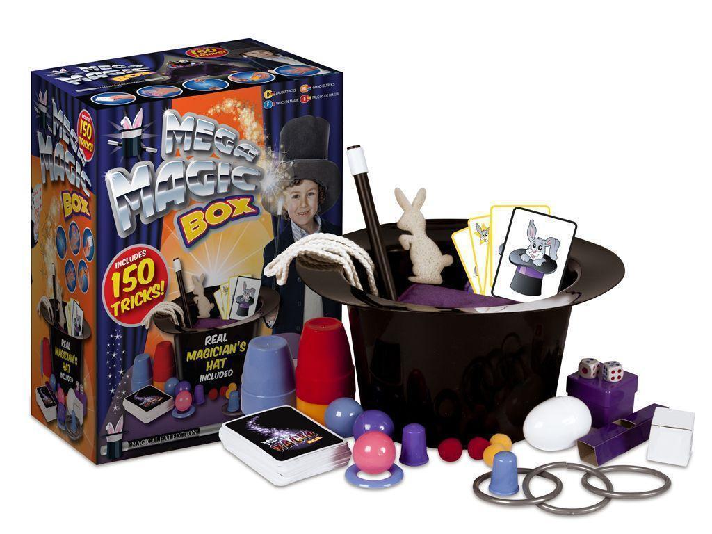 Mega Magic Box Kids 150 Tricks Magician Hat Rabbit Perform Toy Set Wand New Gift Ebay