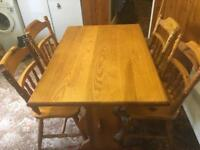 Dining Table & 4 Chairs - OFFER ME