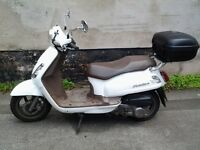 Scooter 1 lady owner , full mot low mileage , excellent condition , rear storage secure box ,