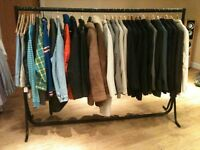 Retro clothes business 70's- 90's..mens retro clothes plus 4 dress rails and mannequin plus contacts