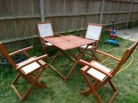 Garden FOLDING CHAIRS AND TABLE