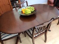Extending dining table & 4 chairs - bargain