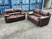 Soft Italian Leather sofas ,some cat marks on it possible delivery