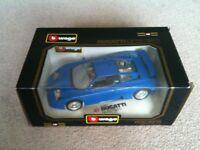 burago, BUGATTI, 1:18 Scale, Die-Cast Model Car.