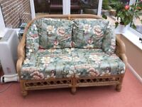 Conservatory furniture. Excellent condition two seater sette and two separate chairs