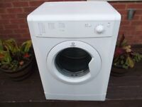 INDESIT 6KG VENTED TUMBLE DRYER IN WHITE & FULLY REFURBISHED COMES WITH 3 MONTHS WARRANTY