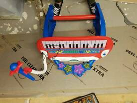 Childrens keyboard and stool
