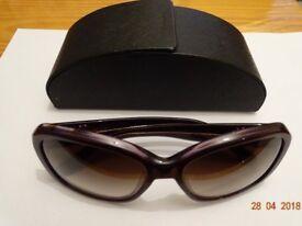 Prada original genuine women Sun Glasses in excellent condition like new. Purple See Pictures