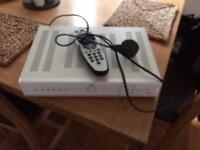 Sky t.v box with remote