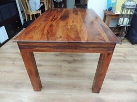 Solid Wood Dining Table possibly Cherry with removable legs Hardwood