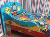 Thomas the tank toddler bed. Comes with bedding if you would like it. £40