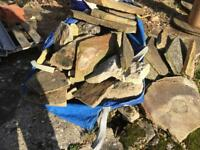 Assortment of decorative stone from pond edging & rockery