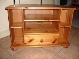 Solid Pine TV Corner Unit