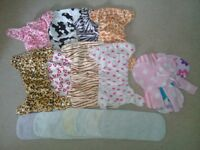 bundle of 8 minky washable nappies liners and pads must see!