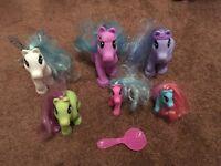 Toy ponys+brush x 6