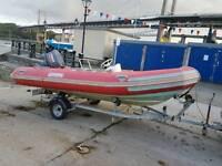 Narwhal 4.5 mtr rib boat