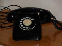 Retro Black BT Dial Telephone