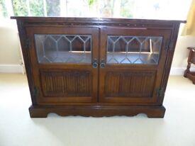 Old Charm Light Oak TV Media Cabinet