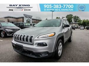 2017 Jeep Cherokee SPORT, REMOTE START, BLUETOOTH, HEATED SEATS,