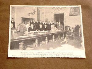 Roma-nel-1920-Lega-Nazioni-Balfour-Tittoni-Drummond-Bourgeois-Coromillas