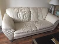 Two leather sofas