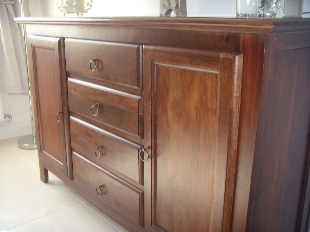 Beautiful Wood Sideboard ~ Sideboard beautiful dark wood hand carved large