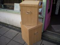 SET OF TWO LAUNDRY/STORAGE BOXES