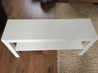 Ikea 'Lack' White TV Bench - As New - Assembled.