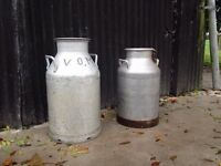 2 large milk cans