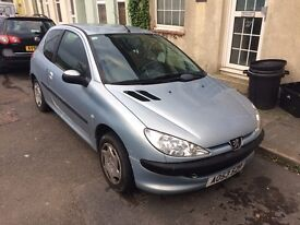 PEUGEOT 206 LOOK, 1.1, 2003, 3 DOOR, ONLY 2 OWNERS (SPARES OR REPAIR)