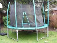 Trampoline 10 Foot diameter replaced outer padding Free for collection