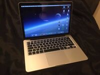 "Macbook pro 13"" retina 256GB , still 4 months Apple warranty left. Hardly used."