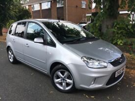 2010 Ford C-Max Zetec 1.8 MPV, Low Miles Only 55,000, MOT May 2019