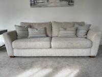DFS Sophia 3 seater cream/ beige sofa