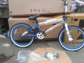 "New Zombie Spike 20"" Wheel 360 Gyro Freestyle BMX Bike Blue - RRP £220"