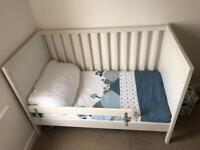 Ikea cot/toddler bed, chest of draws and wardrobe for sale