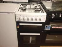 White 50cm gas cooker